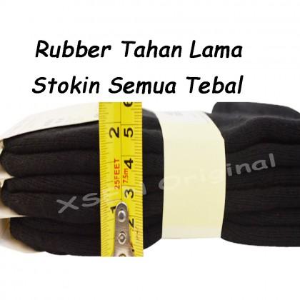 Plain Black Long Extra Thick Cotton Deodorant Sock ( Sarung Kaki Antibau ) Xsen PRO XSK61551