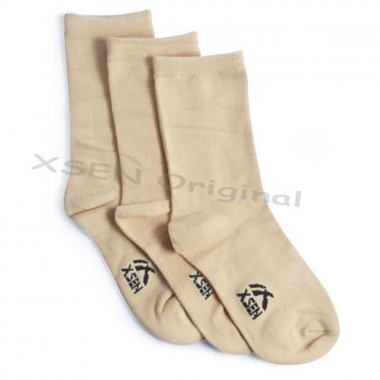 Long Plain Skin Ladies Bamboo Charcoal Deodorant Sock (Sarung Kaki Anti-Bau) - Xsen XSK72001